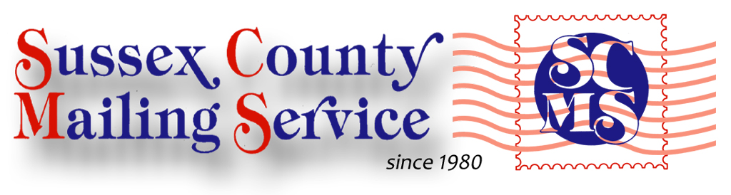 Logo for the Sussex County Mailing Service in Newton, NJ